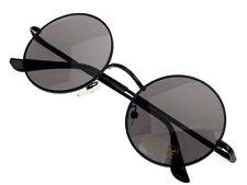 John Lennon Glasses Black Circle Round Sunglasses Black Lens Hippie Retro 60's