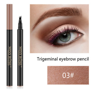 Eyebrow Pen Fork Tip Tattoo Pencil Natural Waterproof Long Lasting Eye Brow Tint