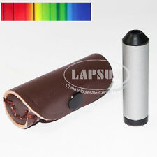 Pocket Aluminum Diffraction Grating Spectroscope Gem Tool 55mm Lenght 15mm DIA