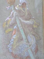 Vicente GIL FRANCO 1898-1959-Espagne-Boulogne sur mer-Gouache-signée-Porteloise