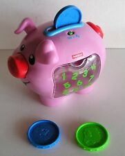 Fisher Price Laugh & Learn Pig Piggy Bank Musical Talking Learning Toy 3 Coins