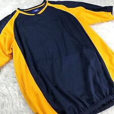 Mizuno Mens Top Shirt Athletic Sports Performance Blue Yellow Mesh I91 Large