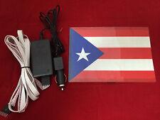 SOUND Activated LED LIGHT FLASHING Puerto Rico Rican FLAG CAR STICKER & SENSOR