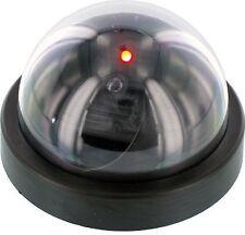 Gift Idea  Fake Dome Security Camera w/Red Flashing Light Imitation Surveillance