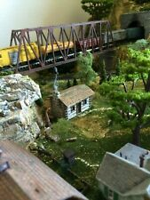 Hand crafted N Scale log cabin