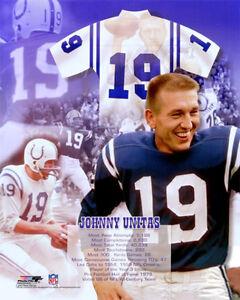 Johnny Unitas THE LEGEND Baltimore Colts Historic Collage Premium POSTER Print