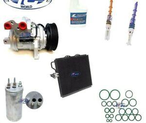 A/C Compressor and Condenser Kit Fits Jeep TJ Wrangler 00-06 L6 4.0L OEM 77379