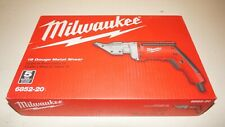 New listing New Milwaukee 6852-20 6.8 Amp 18-Gauge Shear up to 2500 Spm spindle speed 15 Fpm
