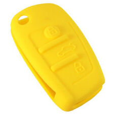 HQRP Funda de silicona amarilla para llave de Audi TT, Q5, R8, RS4, S4, S5, S6