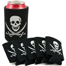 10 Pirate Can Covers/Insulators - Skull & Crossbones Party, Like Koolies/Koozies