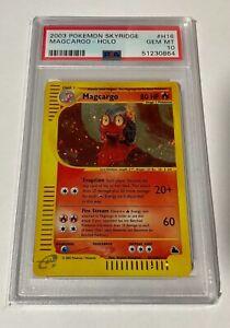 Pokemon Card 2003 Skyridge Set Magcargo HOLO H16/H32 PSA 10 GEM MINT