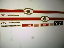 Charlotte North Carolina Fire Department SUV Decals 1:24