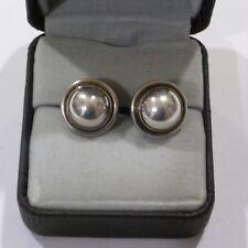 Antique Ladies Georg Jensen Earrings Sterling Silver (Gi) Old Mark #86 Denmark