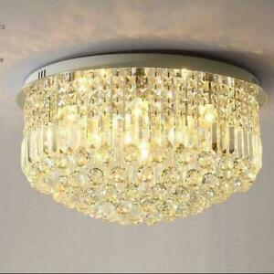 LED Modern K9 Clear Crystal Ceiling Light Pendant Lamp Chandelier Lighting #2283