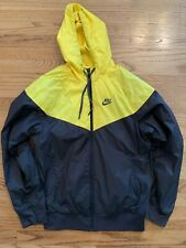 Nike Sportswear Light Jacket Sz. Large Warm Up Yellow Black Nice!