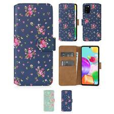 32nd Serie Floral 2.0 - Funda tipo Libro de Piel PU para Samsung Galaxy A41