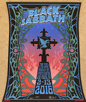 Black Sabbath Concert Poster The End 2016 Vegas Signed By Mike DuBois AE!