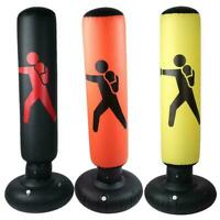 1.6M Punch Bag Inflatable Boxing Column Tumbler Sandbags Kick Martial Training
