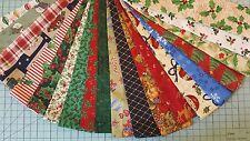 "40 2.5"" Christmas Quilting Fabric Jelly Roll Strips Cotton Fabric Mixed Colors"