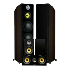 Fluance Signature Series 5.0 Surround Sound Home Theater Speaker System (Walnut)