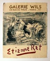 Original Vintage French Paris Art Exhibition Poster, Etienneret, Galerie Wils