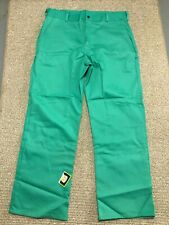 New Tillman Mens Green Welding Flame Resistant Fr Work Pants Size 42 X 30