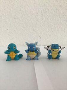 "Pokemon Squirtle Wartortle Blastoise 1.75"" Nintendo TOMY Mini Figures Toy Lots"