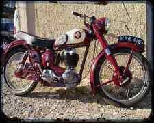 Bsa C12 01 A4 Metal Sign Motorbike Vintage Aged