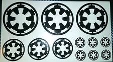 Star Wars Imperial Logo, etiqueta engomada, Vinilo, Coche, tableta, teléfono, ordenador portátil, Bicicleta,