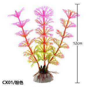 Aquarium Plants Plastic Artificial Tank Fish Plant Decoration Ornament Water NEW