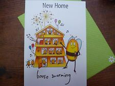Compost Heap New Home Bees House Greetings Card Blank Plain Envelope UK Made