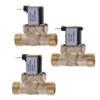 G1/2'' Brass Electric Solenoid Valve DC 12v 24v AC220v for Solar Water Heater 3C