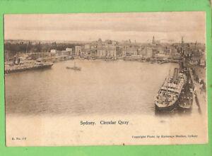 #E.   SHIPPING  POSTCARD - SYDNEY, CIRCULAR QUAY