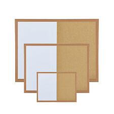 Pin Cork Board & Magnetic Whiteboard Dry Wipe White Memo & CorkBoard Combination