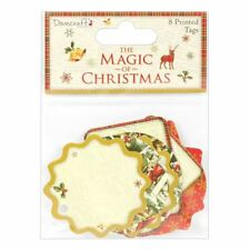 Dovecraft The Magic of Christmas Craft Collection - Printed Tags (8pc)