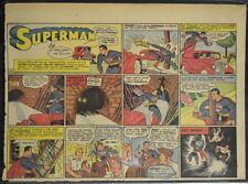 SUPERMAN SUNDAY COMIC STRIP #23 April 7, 1940 2/3 FULL Page DC Comics RARE