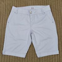 D. Jeans Denim Shorts Bermuda Womens Size 12 Stretch Light Pastel Blue