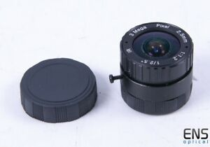"2.5mm f/1.2 Fixed CCTV Lens 3MP IR 1/2.5"""