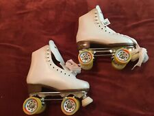Chicago Roller Skates Rink Quad Skates Size 8 Women Leather White Yellow NWT