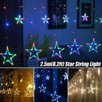 ☆LED String Fairy Lights Star Curtain Xmas Party Wedding Decor Garden Outdoor☆