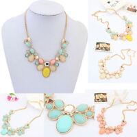 Fashion Charm Crystal Jewelry Pendant Chain Choker Chunky Statement Bib Necklace