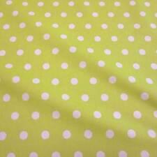 Stoff Baumwollstoff beschichtet Punkte limette weiß abwaschbar Tischdecke 2016