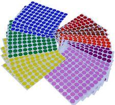 Circle Rounded Dots Circular Stickers 1/2 Inch Color Coding Labels 2560 Pack
