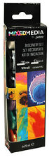 Pebeo Discovery Set MIXED MEDIA - With Vitrail, Moon, Prisme Paint 6 x 20ml Pots