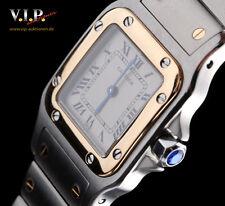 Cartier santos galbee pm montre reloj fantastico acero/18k Gold watch orologio minuto