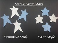 Large Sizzix Stars Die Cuts - 2 Styles in packs of 20 and 40