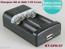 Chargeur KT-CPH-57 AA et AAA 1.5V Rechargeable Li-ion Kentli
