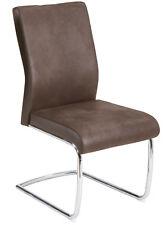 R5356-28/2 Freischwinger Set Küchenstuhl Stuhl 150 Kg Belastbar Microfaser Braun