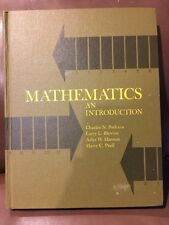 Goodyear Publishing Mathematics An Introduction 1969 G5625 Hardcover