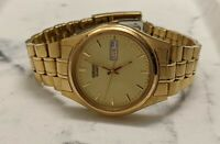 Seiko 7N43-9048 Stainless Steel  Gold Tone Luminous Dial Men's Watch (For Parts)